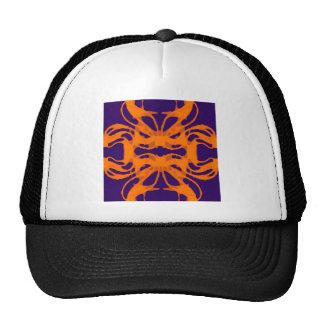 Etnic purple and orange trucker hat