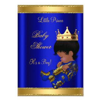 Étnico azul de la fiesta de bienvenida al bebé de comunicado personal