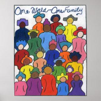 Étnico, interracial, multicultural poster