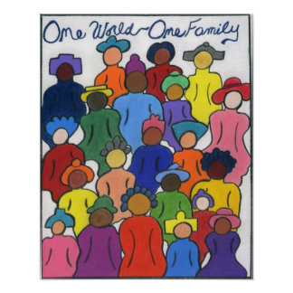 Étnico, interracial, multicultural póster