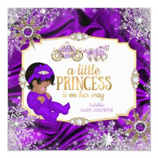 """Étnico púrpura de la fiesta de bienvenida al bebé invitación 5.25"""" x 5.25"""""""