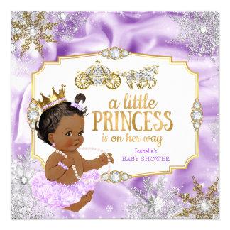 """Étnico púrpura de la princesa fiesta de bienvenida invitación 5.25"""" x 5.25"""""""