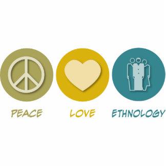 Etnología del amor de la paz escultura fotografica