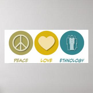 Etnología del amor de la paz impresiones