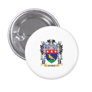 Etoile Coat of Arms - Family Crest 1 Inch Round Button
