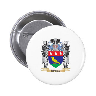 Etoile Coat of Arms - Family Crest 2 Inch Round Button