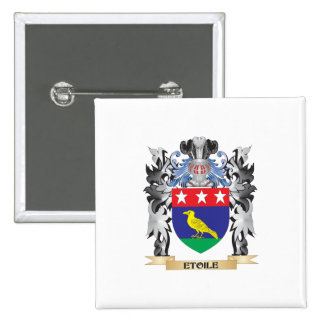 Etoile Coat of Arms - Family Crest 2 Inch Square Button