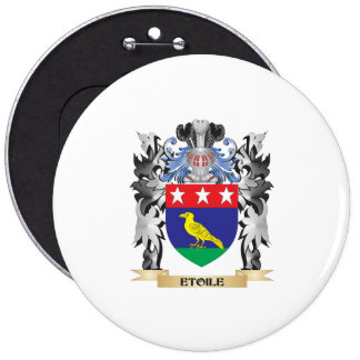 Etoile Coat of Arms - Family Crest 6 Inch Round Button
