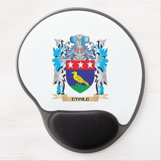 Etoile Coat of Arms - Family Crest Gel Mouse Pads