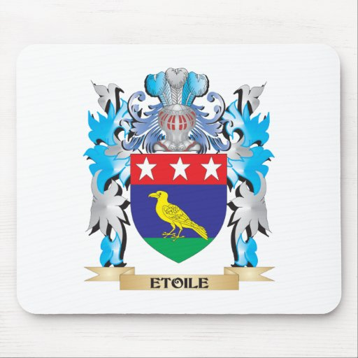 Etoile Coat of Arms - Family Crest Mousepads