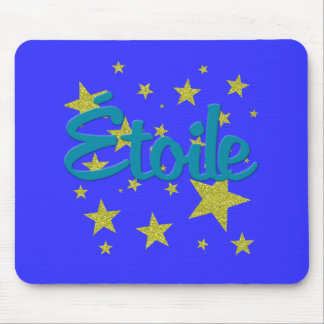 Etoile French with Stars Mouse Pad