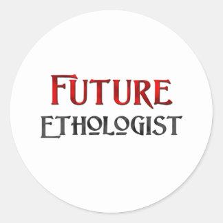 Etólogo futuro etiqueta redonda