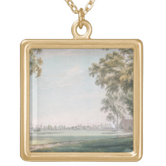 Eton College and Windsor from the Playing Fields Gold Plated Necklace