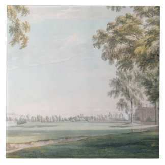 Eton College and Windsor from the Playing Fields Large Square Tile