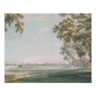 Eton College and Windsor from the Playing Fields Poster