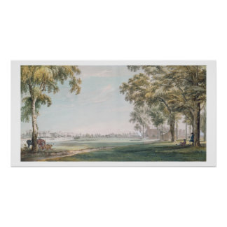 Eton College and Windsor from the Playing Fields Print