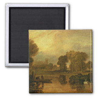 Eton College from the River, or The Thames at 2 Inch Square Magnet