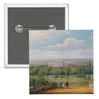 Eton College from the terrace of Windsor Castle Button
