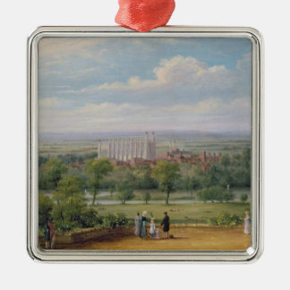 Eton College from the terrace of Windsor Castle Metal Ornament