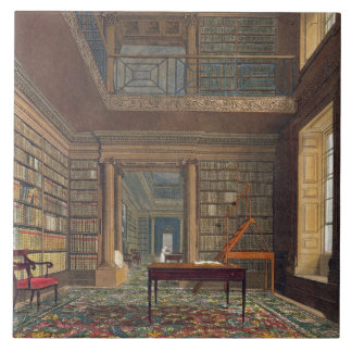 Eton College Library, from 'History of Eton Colleg Large Square Tile