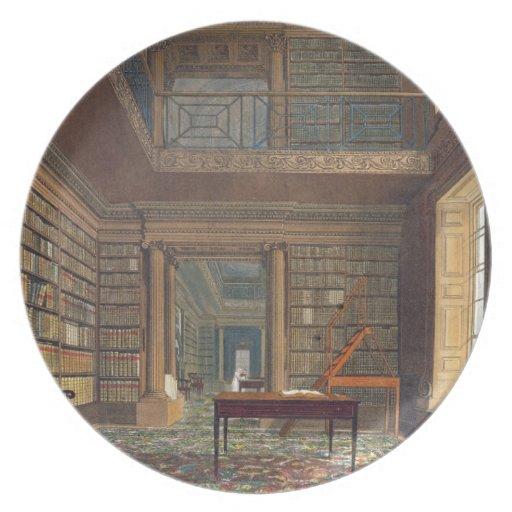 Eton College Library, from 'History of Eton Colleg Dinner Plate