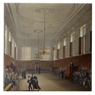 Eton School Room, from 'History of Eton College', Large Square Tile