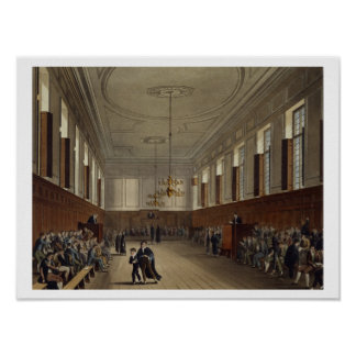 Eton School Room, from 'History of Eton College', Poster