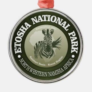 Etosha National Park Metal Ornament