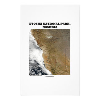 Etosha National Park Picture Earth Geography Stationery