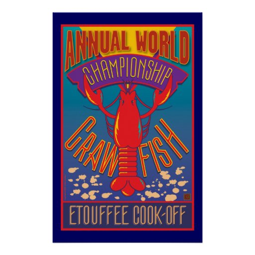 Etouffee Cook-Off-Poster Poster