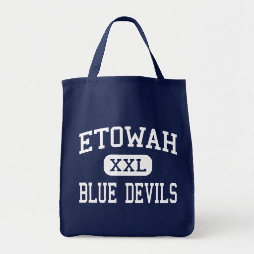 Etowah Blue Devils Middle Attalla Alabama Canvas Bags