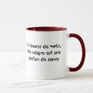Être indigne mug