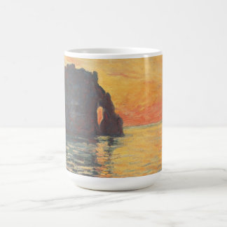 Etretat, Cliff of d`Aval, Sunset - Claude Monet Coffee Mug