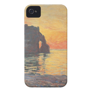 Etretat, Cliff of d`Aval, Sunset - Claude Monet iPhone 4 Case