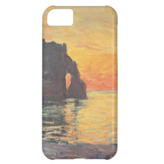 Etretat, Cliff of d`Aval, Sunset - Claude Monet iPhone 5C Cover