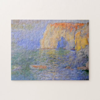 Etretat Cliff Reflections on Water Monet Fine Art Puzzle