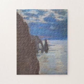 Etretat Needle Rock & Porte d'Aval Monet Fine Art Puzzle
