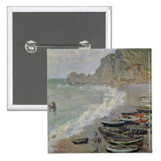 Etretat, playa y el d'Amont de Porte, 1883 Pin Cuadrado