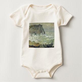 Étretat, Rough Sea (1883) Baby Bodysuits