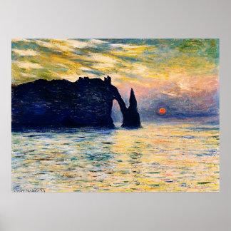 Etretat, Sunset,1883 Poster