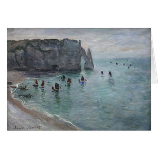 Etretat, The Aval door (Porte d'Aval) Claude Monet Card