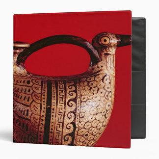 Etruscan askos in the shape of a duck vinyl binders