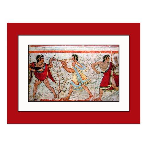 Etruscan Dancer and Musicians Postcard