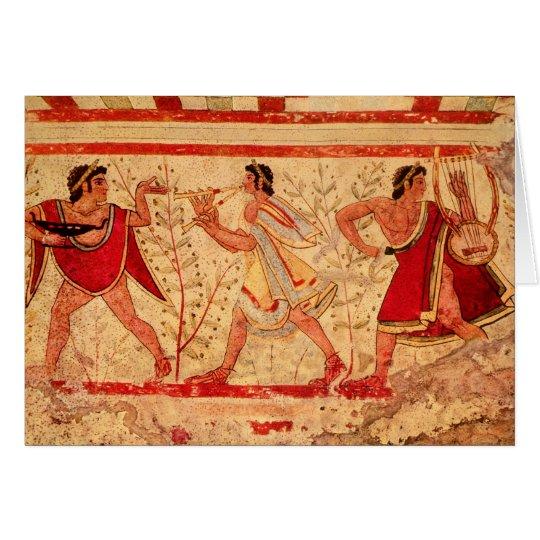 Etruscan musicians card