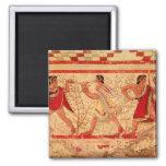 Etruscan musicians fridge magnets