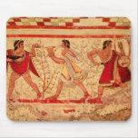 Etruscan musicians mouse pad