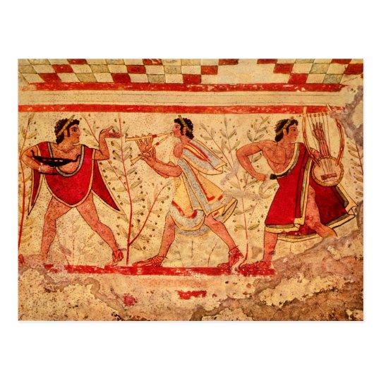 Etruscan musicians postcard