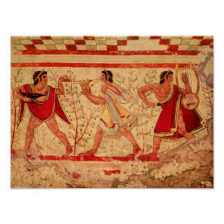 Etruscan musicians posters