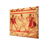 Etruscan musicians stretched canvas print