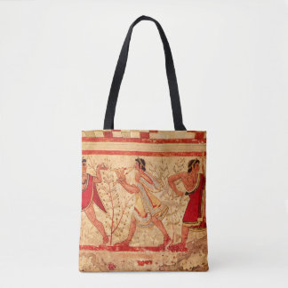 Etruscan musicians tote bag
